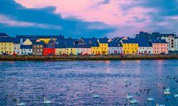 The colourful Galway Bay on the west coast of Ireland