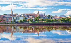 A view of Londonderry from across the water, Northern Ireland
