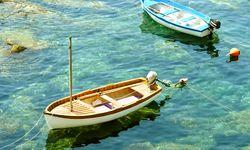 Fishing boats in Liguria