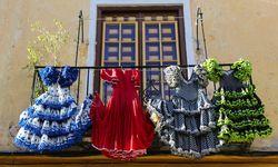 Flamenco Dresses Hanging on a Balcony