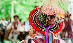 Romanian man in traditional dress