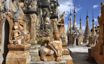 Yangon temple detail