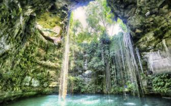 Cenote in the Yucatan Peninsula