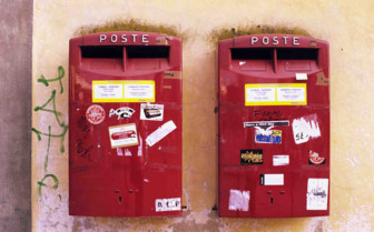 Italian Postboxes on the wall