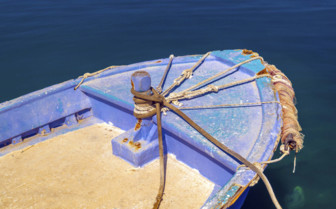 A Boat in Santorini