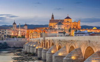 Evening at the Roman Bridge in Cordoba
