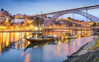 Boats under a bridge