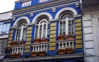 Blue Facade of Home