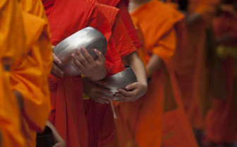 Buddhist Monks and Pots