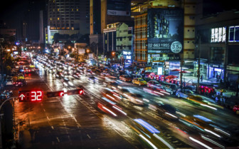 Night Traffic in Bangkok