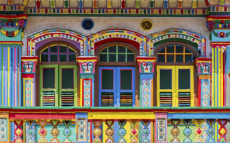 Brightly Painted Windows