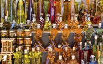 Liquor bottles in Europe
