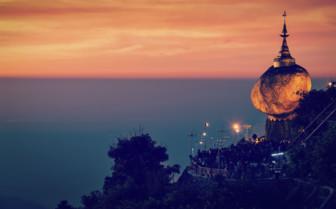 Golden Rock in Burma