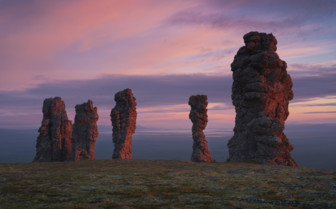 Stone giants in the Northern Ural Mountains