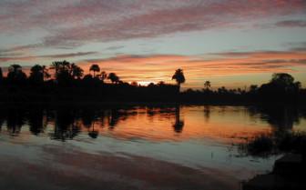 Sunrise over the Nile in Egypt