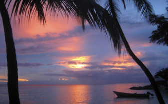 Tropical sunset in the Caribbean