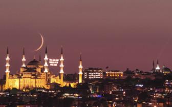 Mosque Moonlight at Ramadan