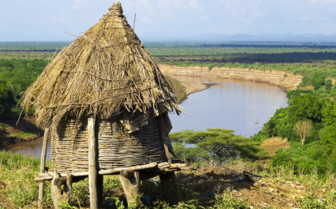 Hamer Hut in the Highlands of Ethiopia