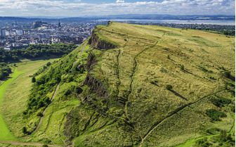 A view from the top of Arthurs Seat, Edinburgh