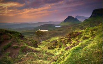 A panoramic view of Quiraing Hill