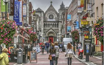 Grafton Street situated in Ireland's capital city
