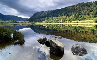 A picture of Glendalough lake in County Wicklow, Ireland