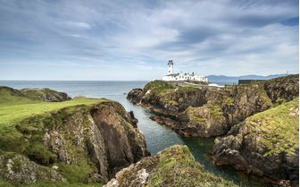 A faraway view of Fanad Head Lighthouse, Northern Ireland