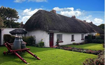 An image of a traditional Adare cottage