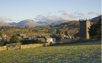 A view of Hawkshead village, Cumbria