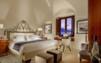 Bedroom at Monastero Santa Rosa, luxury hotel in Italy