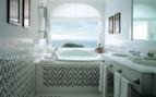 Luxury bathroom with ocean view