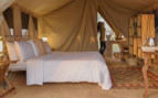Interior design of a tent at Serian Serengeti