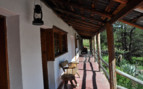 Balcony with garden view at Sierra Lodge, luxury hotel in Mexico