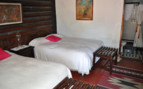 Lodge Bedroom at Sierra Lodge, luxury hotel in Mexico