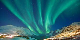 Northern Lights in Swedish Lapland, Sweden