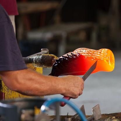 Murano glass blowing
