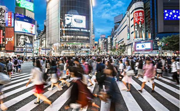 Zebra crossing in Tokyo