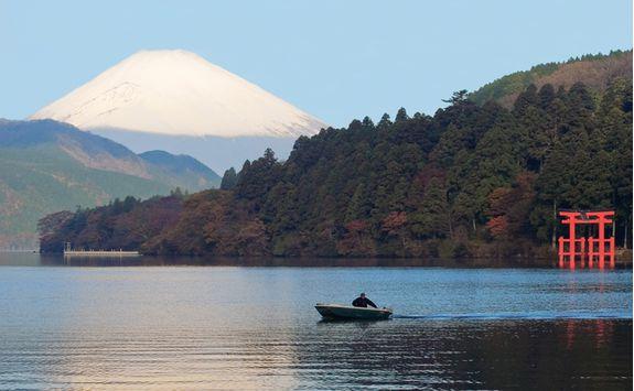 View of Mount Fuji in Hakone
