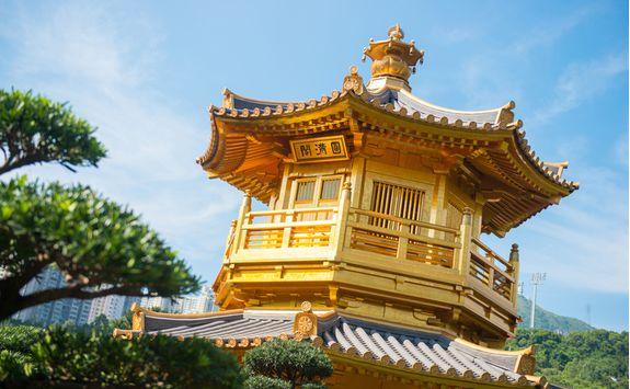 Kinkakuji Golden Pavilion temple in Kyoto