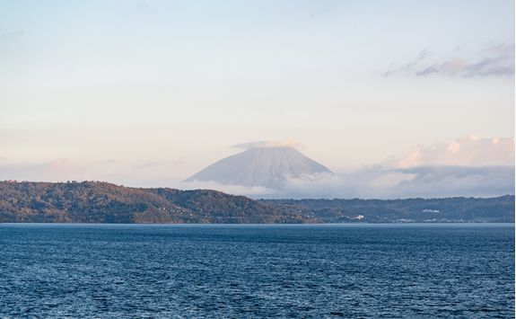 Mount Yotei viewed across Lake Toya