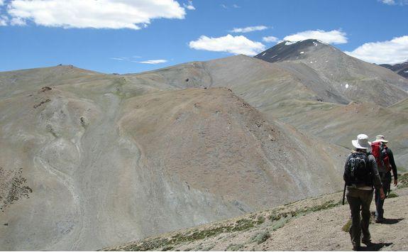 Trekking in Ladakh mountains
