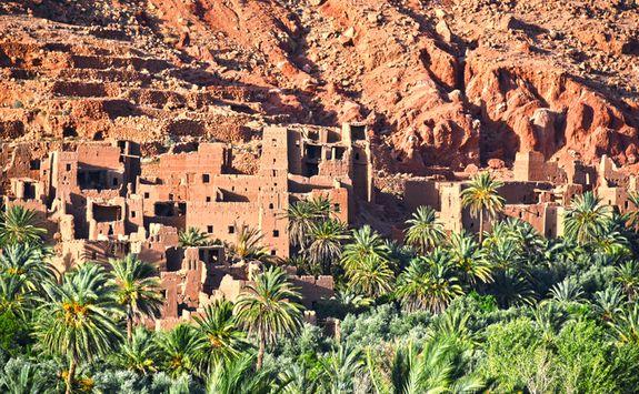 Berber village in the Atlas Mountains