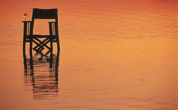 Sundowner in river