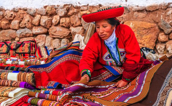 Traditional market in Peru