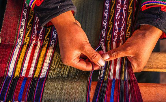 Traditional Peruvian weaving