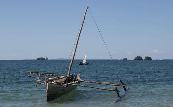 Boat on Nosy Komba
