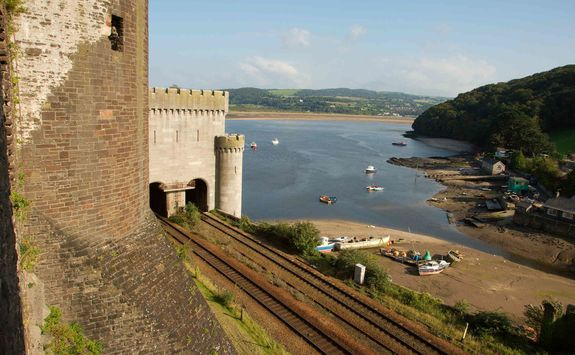 Beach view from Conwy