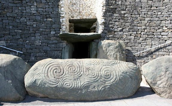 close up of the entrance to Newgrange