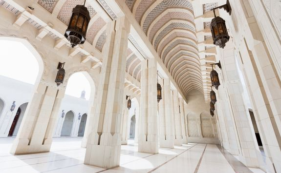 Archway inside Grand Mosque