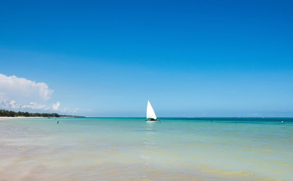 Sailing boat on beach